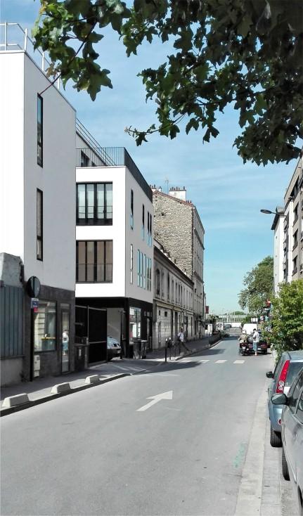le projet depuis la rue Proudhon