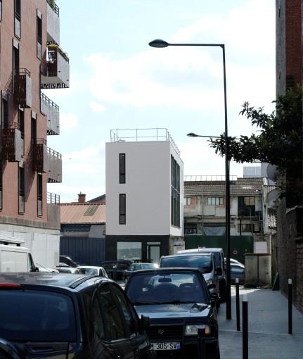 le projet (phase 1) depuis la rue Jamin