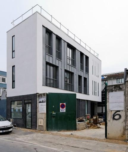 le projet (phase 1) depuis la rue Proudhon
